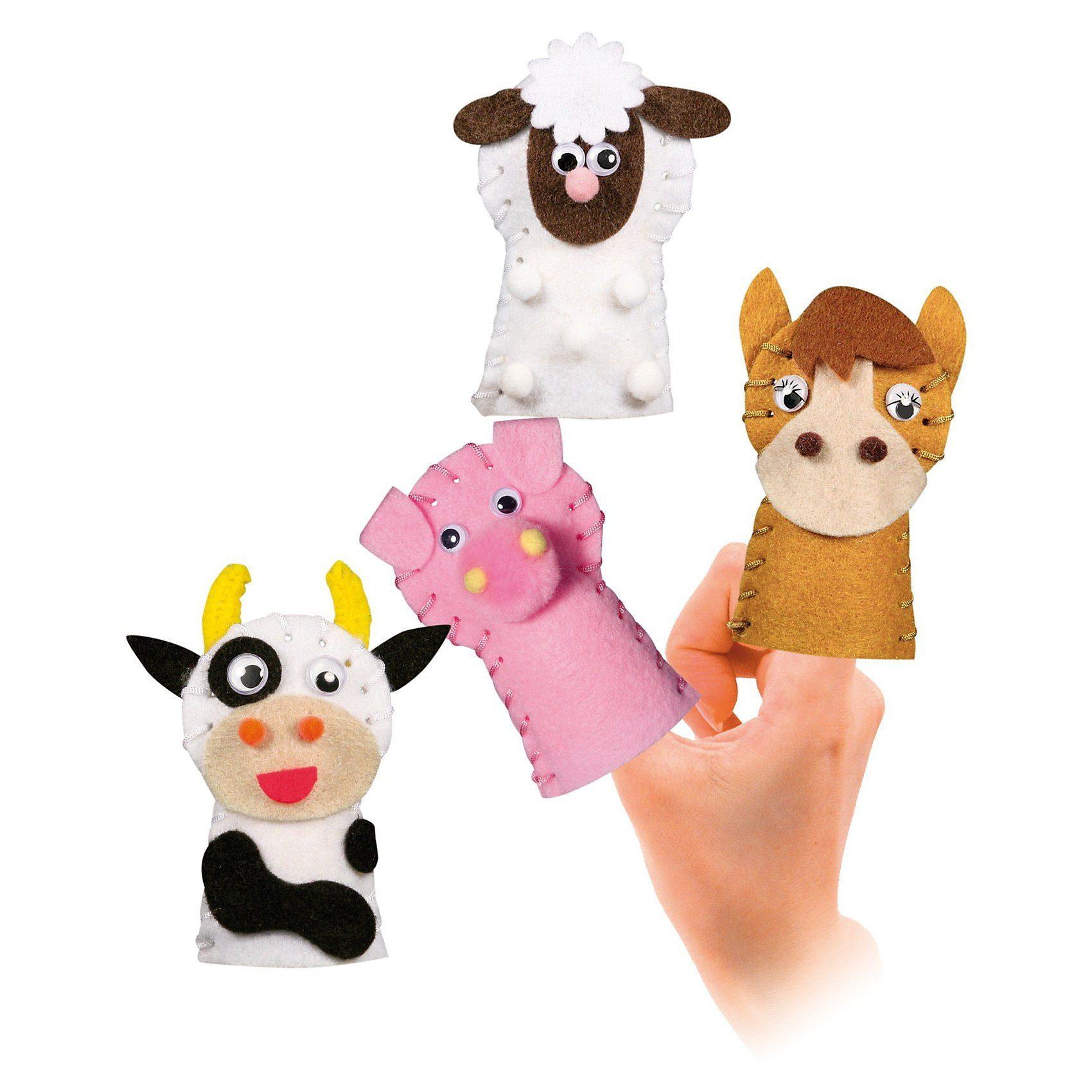 URSUS Filz-Set Fingerpuppe Farmtiere