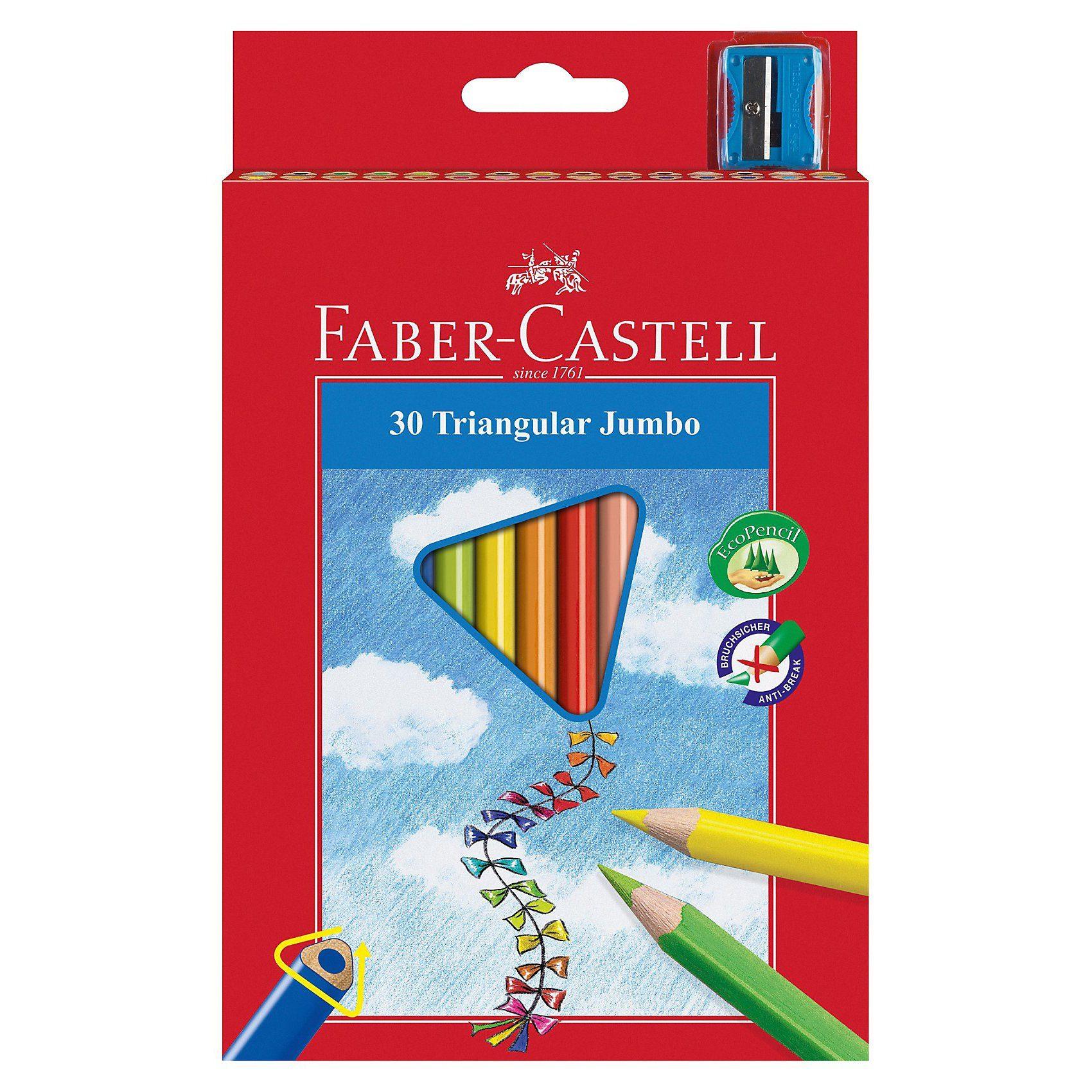 Faber-Castell TRIANGULAR Jumbo Farbstifte, 30 Farben