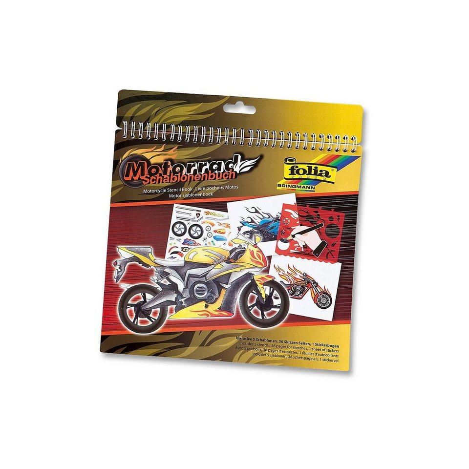 Folia Kreativset Schablonenbücher Motorrad, inkl. Sticker