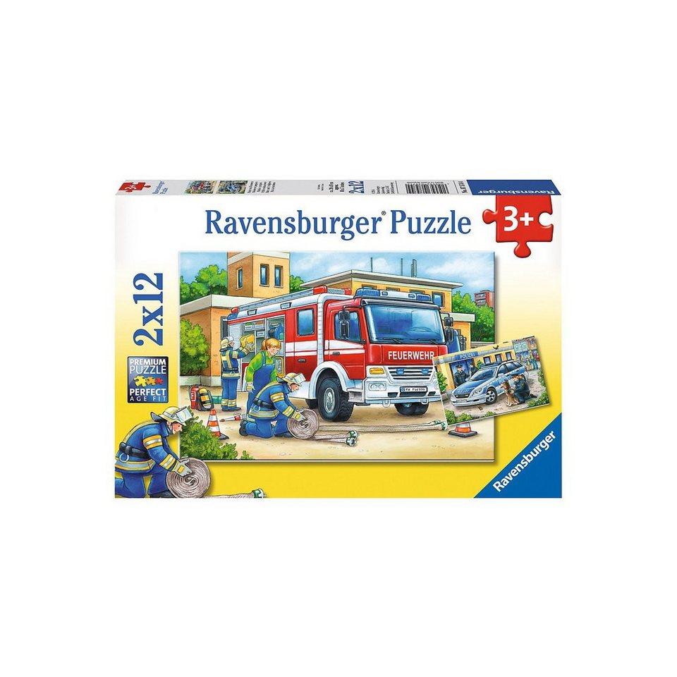 Ravensburger Polizei und Feuerwehr 2 X 12 Teile