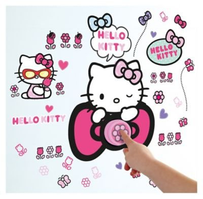 WORLDS APART Türklingel mit Wandstickern, Hello Kitty, 41-tlg. in pink