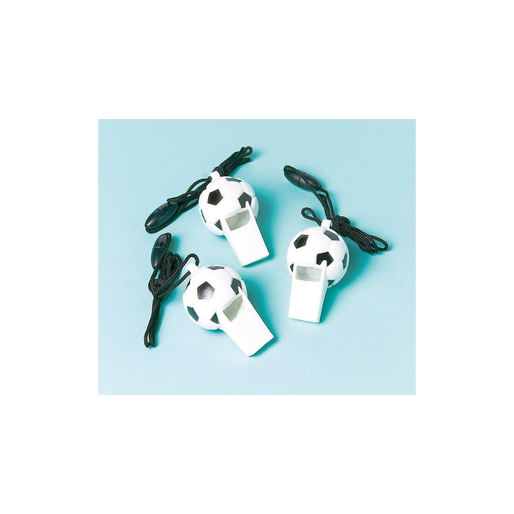 Trillerpfeifen Fußball, 12 Stück