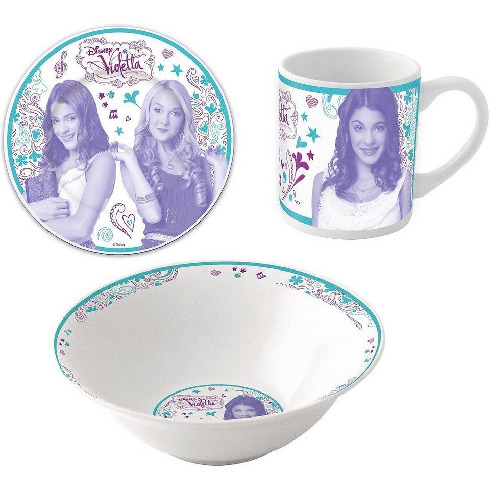 P:OS Kindergeschirr Violetta 3-tlg., Keramik