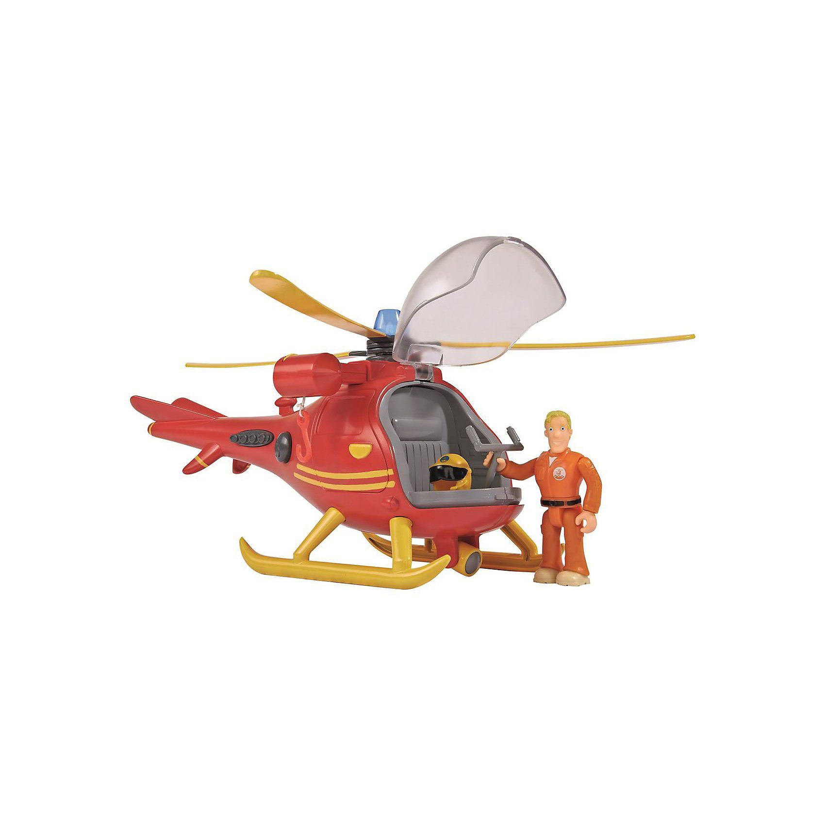 SIMBA Feuerwehrmann Sam Hubschrauber mit Figur