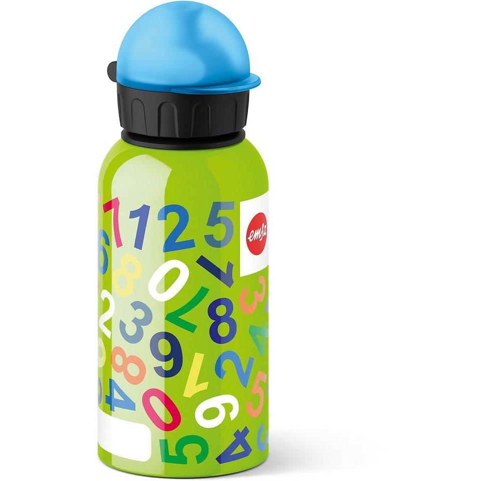 Emsa Trinkflasche Numbers, 400 ml in grün