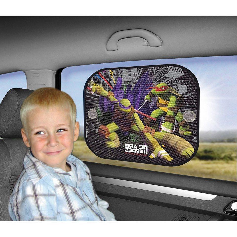 Kaufmann Sonnenschutz für die Seitenscheibe, Ninja Turtles, 2er Pack in mehrfarbig