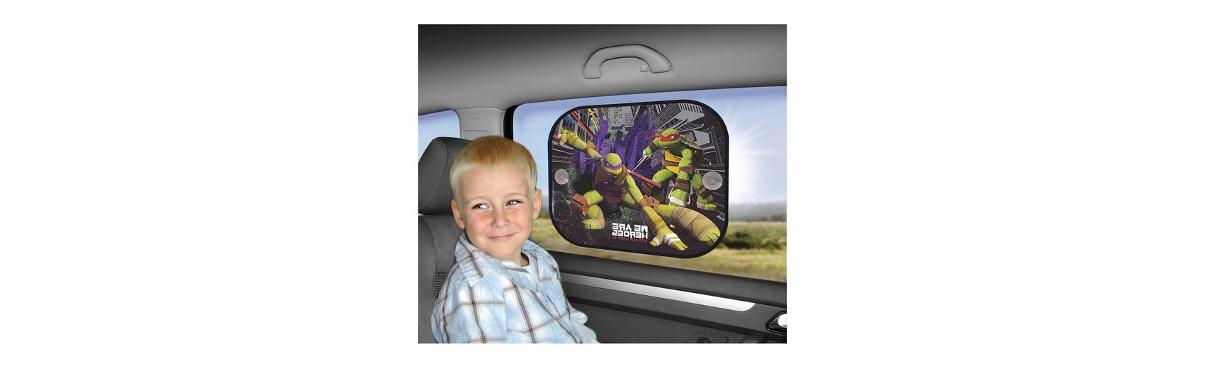Kaufmann Sonnenschutz für die Seitenscheibe, Ninja Turtles, 2er Pack