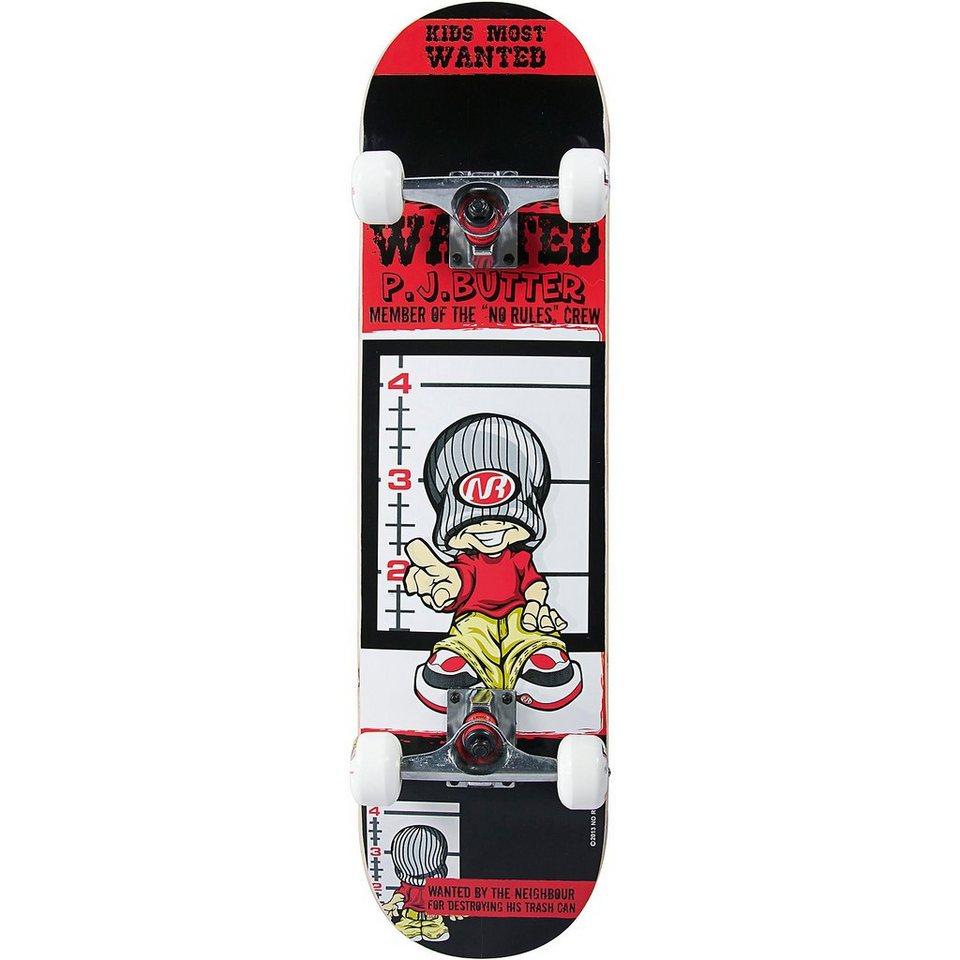 No Rules Skateboard PJ Butter in schwarz/rot