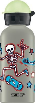 SIGG Alu-Trinkflasche Glow Dancing Skeletons, 400 ml in blau