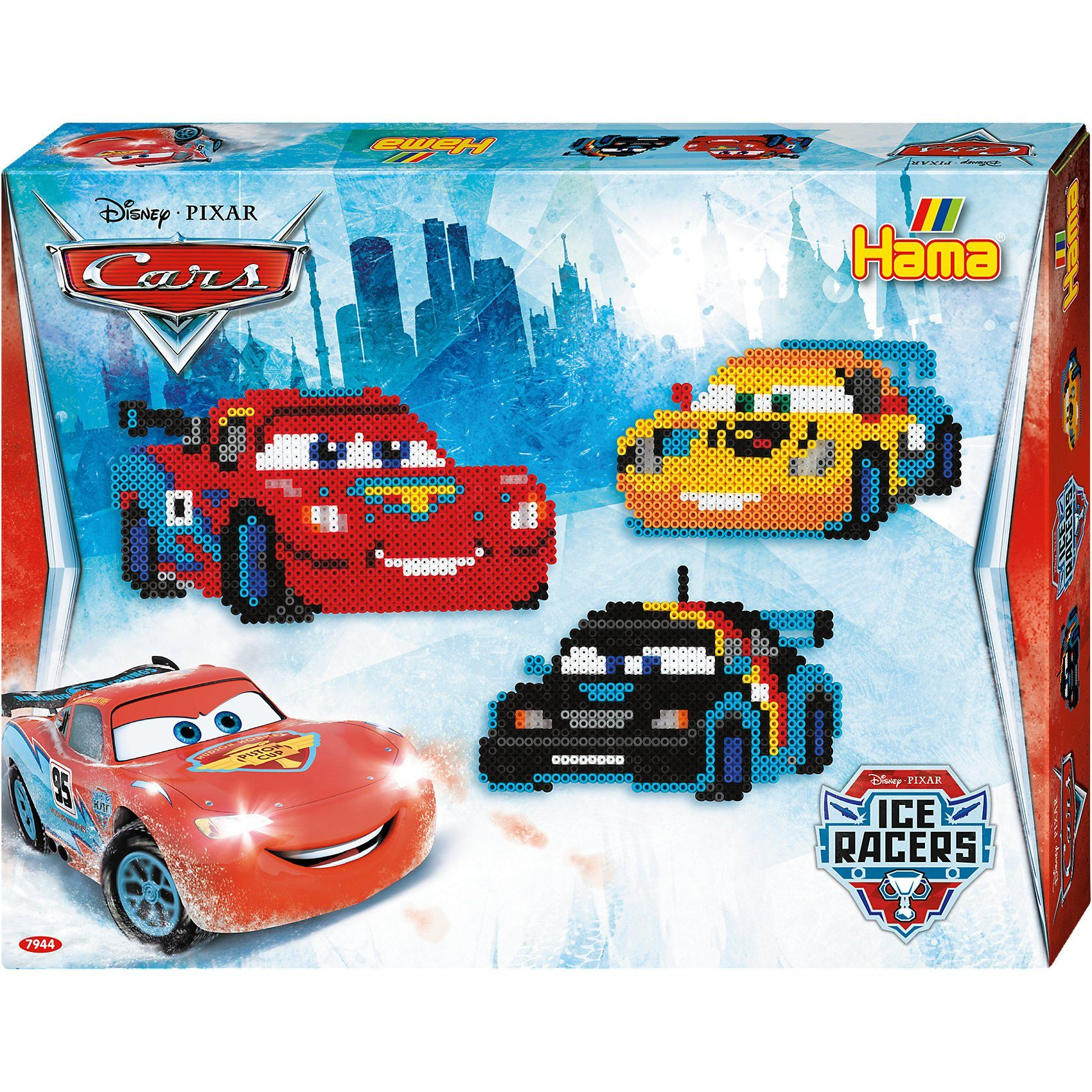 Hama Perlen HAMA 7944 Geschenkset Disney Cars, 4.000 midi-Perlen & Zubeh