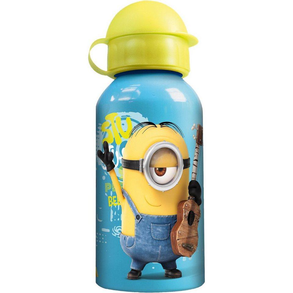 P:OS Alu-Trinkflasche Minions, 400 ml in blau