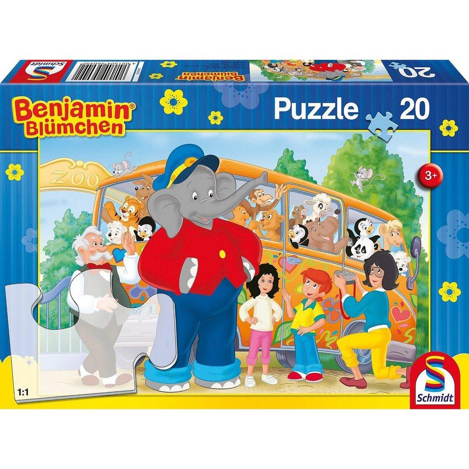 Schmidt Spiele Puzzle Benjamin Blümchen, Zooausflug, 20 Teile