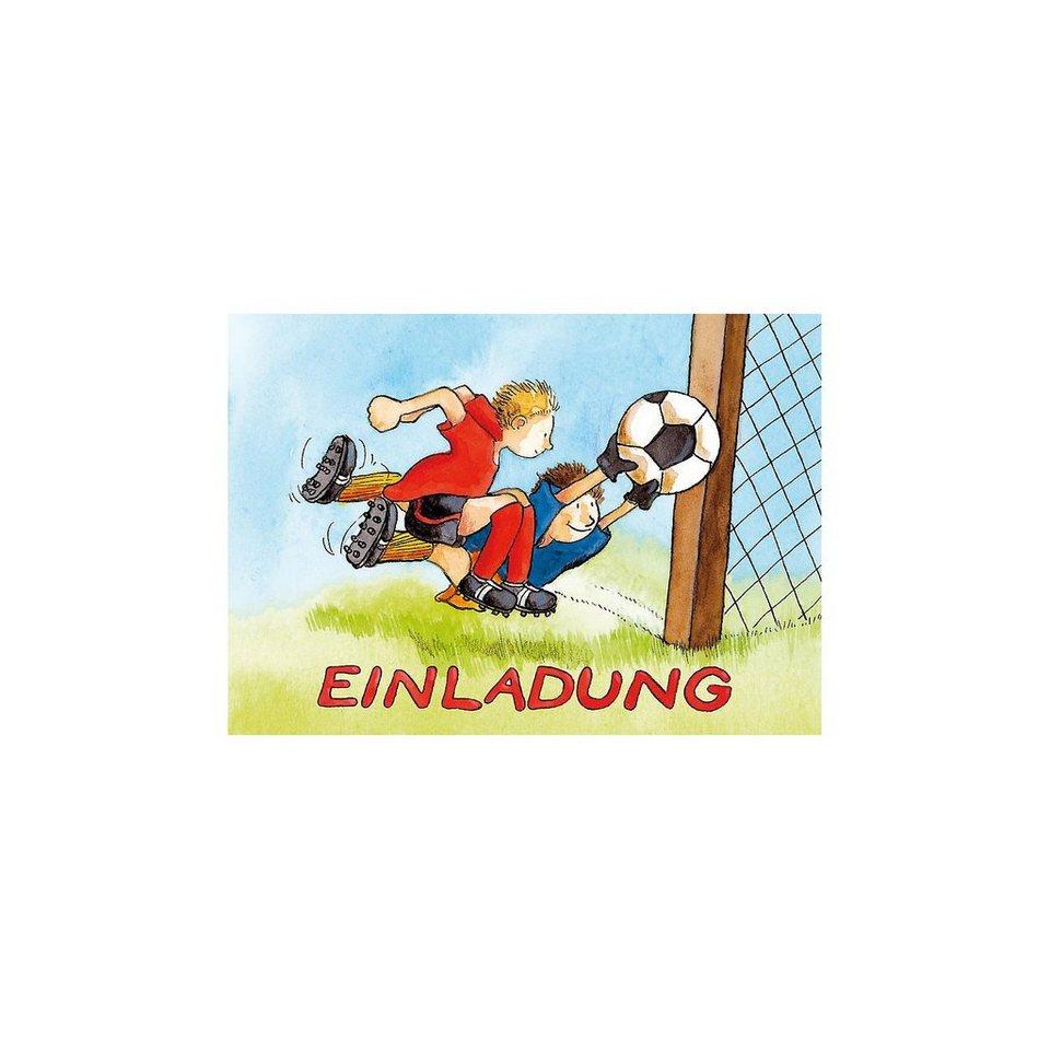 Grätz Verlag Einladungskarten Fußball, 10 Stück