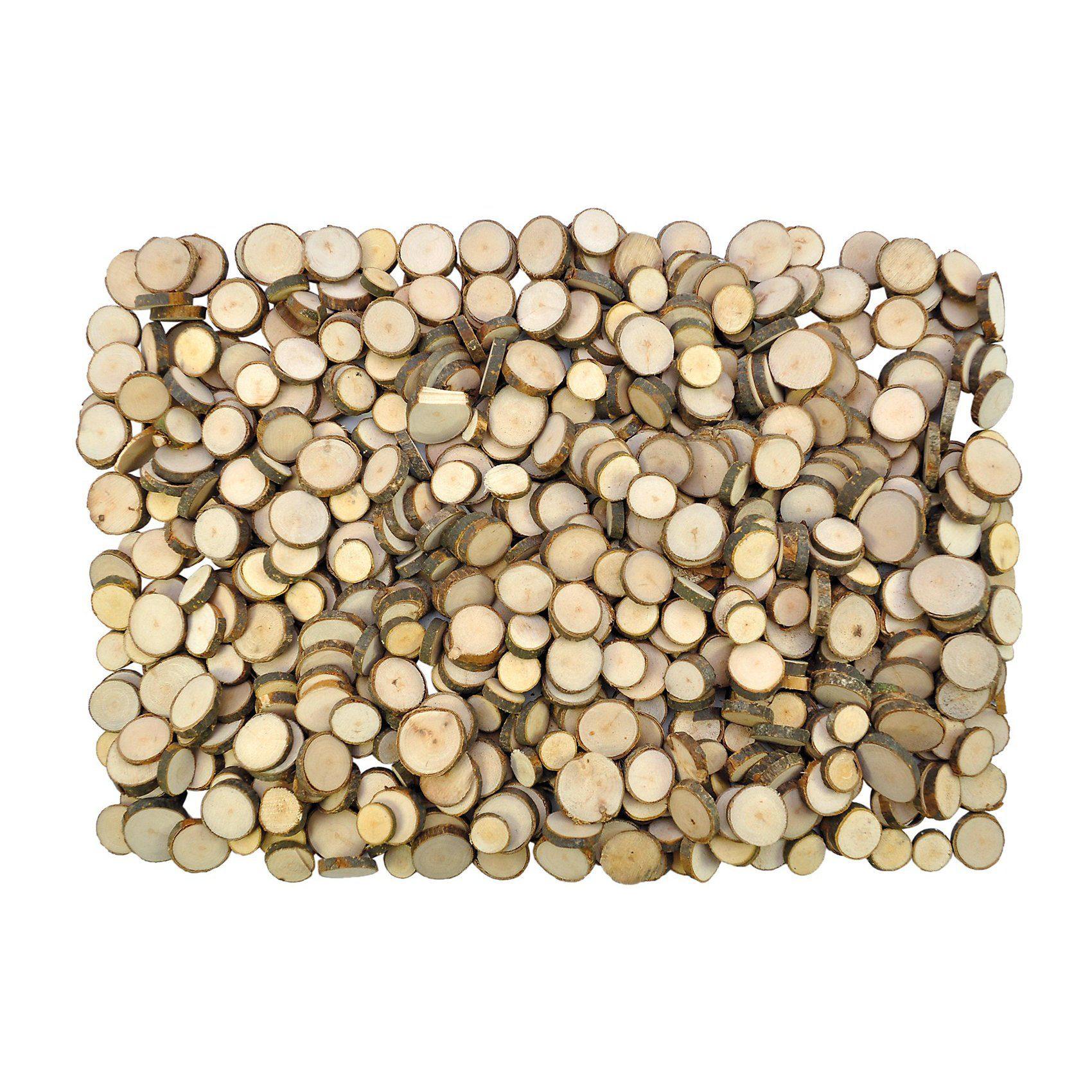 Eduplay Naturholzscheiben zum Basteln & Gestalten, 1 kg
