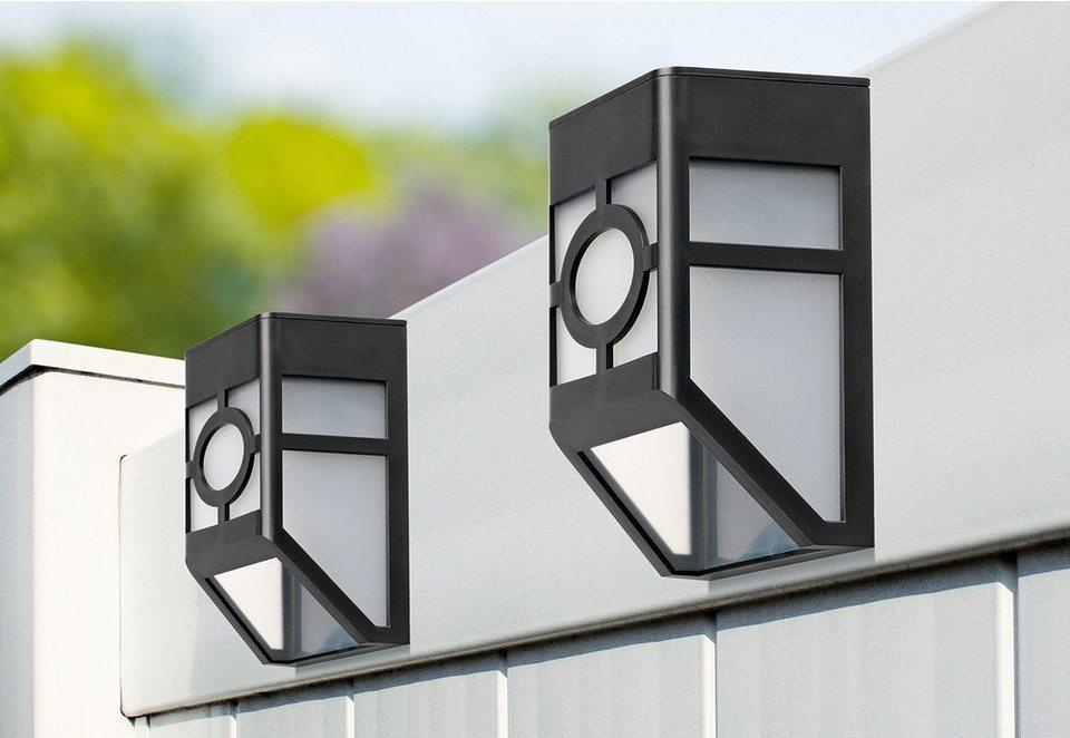 Solarzauber Zaunlichter (4er Set) in schwarz