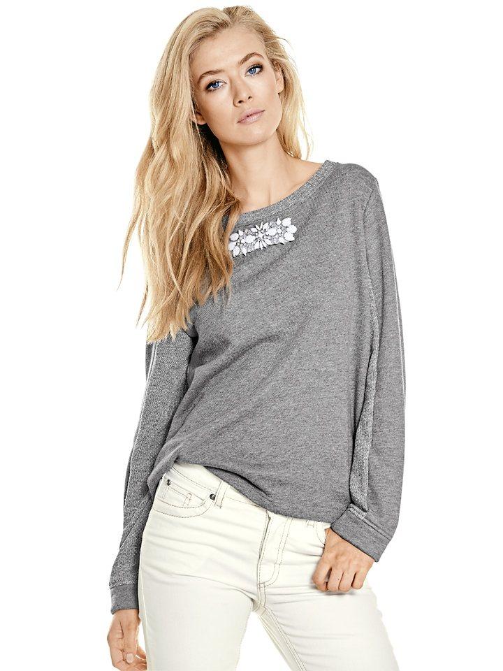 Sweatshirt in grau-melange