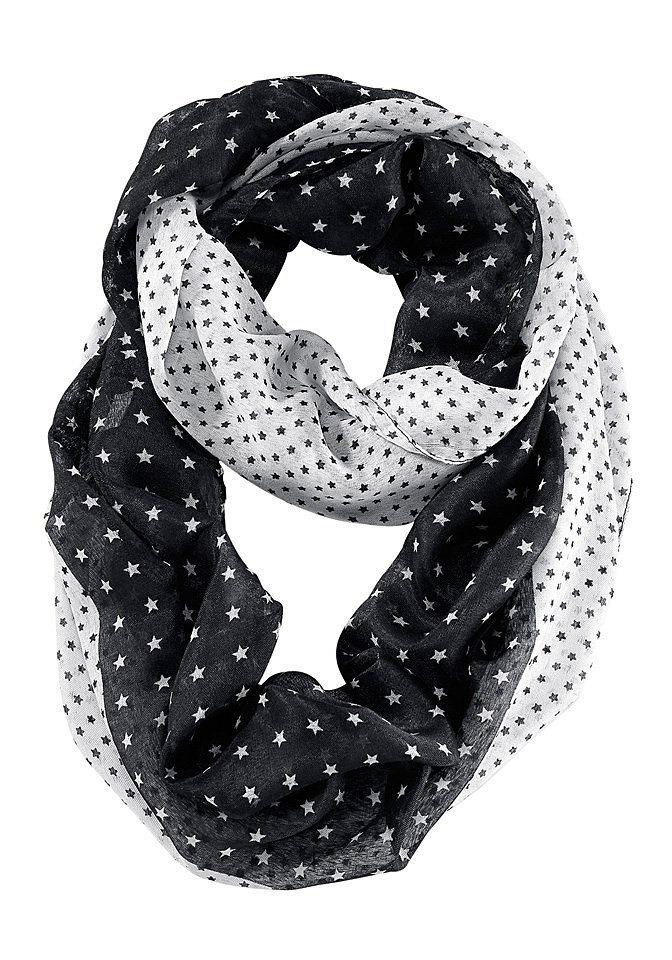 sheego Loop-Schal in schwarz weiß