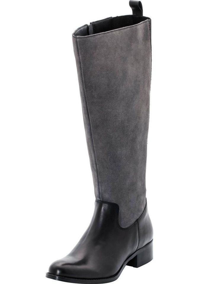 Sheego XL/XXL-Weitschaftstiefel in schwarz-grau