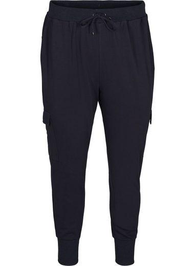 Zizzi Stoffhose Große Größen Damen Hose mit Taschen und Tunnelzug