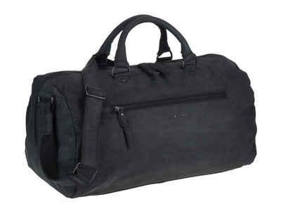 Greenburry Reisetasche »Vintage Revival Black«, Leder, schwarz, Weekender, Sporttasche