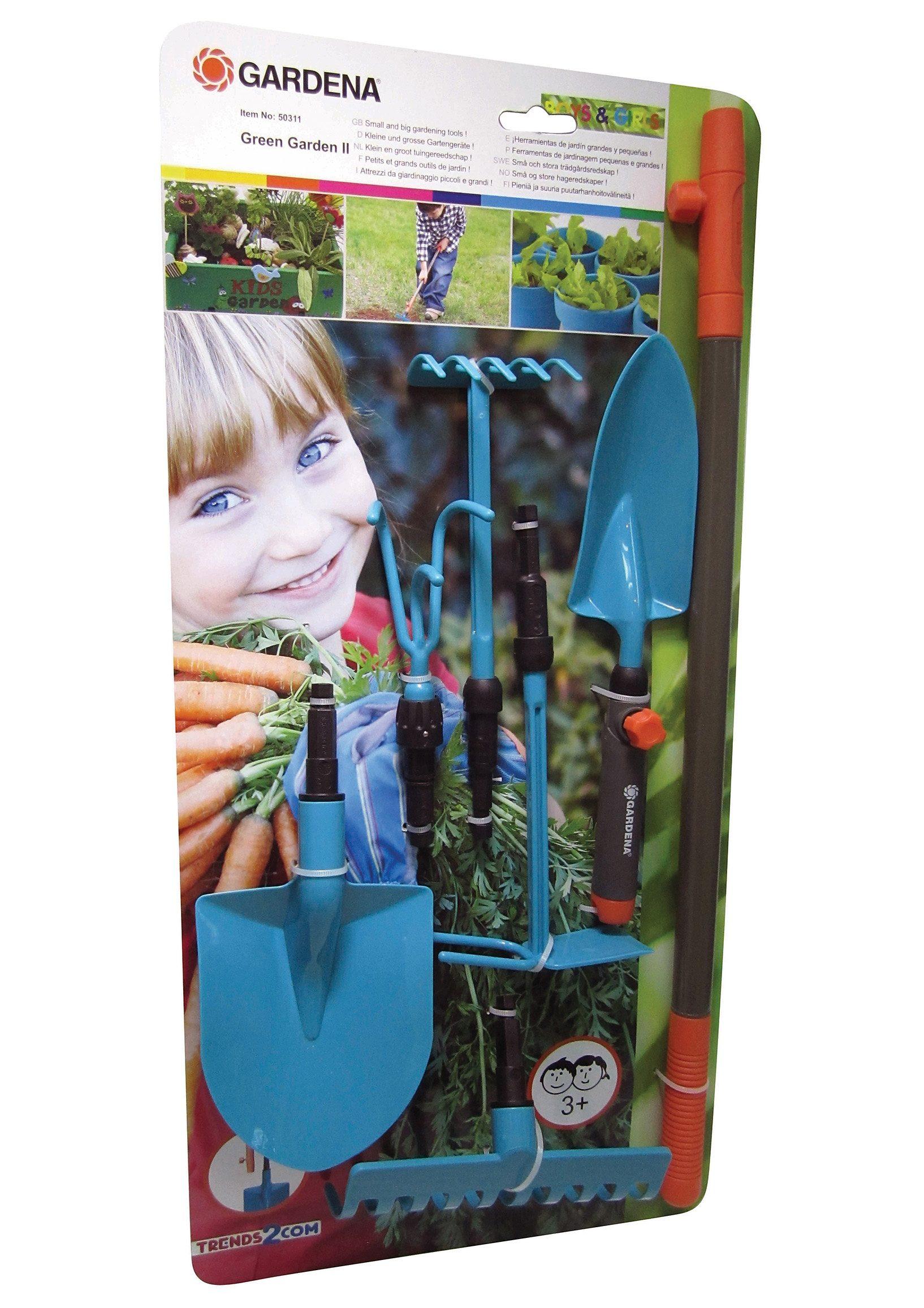 Kinder-Gartengeräteset, »GARDENA® BOYS & GIRLS - Kombisystem V« (8tlg.)