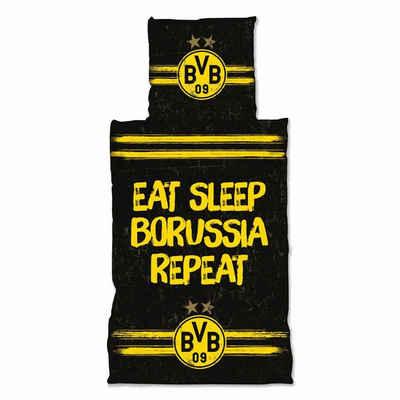 """Bettwäsche »""""Eat. Sleep. Borussia. Repeat""""«, Borussia Dortmund"""