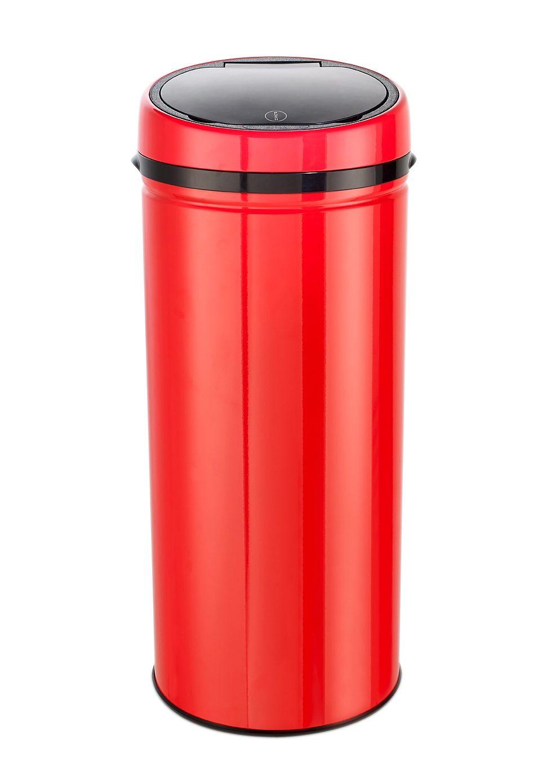 Edelstahl-Abfalleimer Easy Touch, 42 Liter, »INOX RED«, Echtwerk