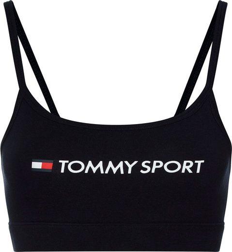 TOMMY SPORT Bustier »LOW SUPPORT BRA« mit schmalen Trägern für leichten Halt & Tommy Sport Logo-Schriftzug