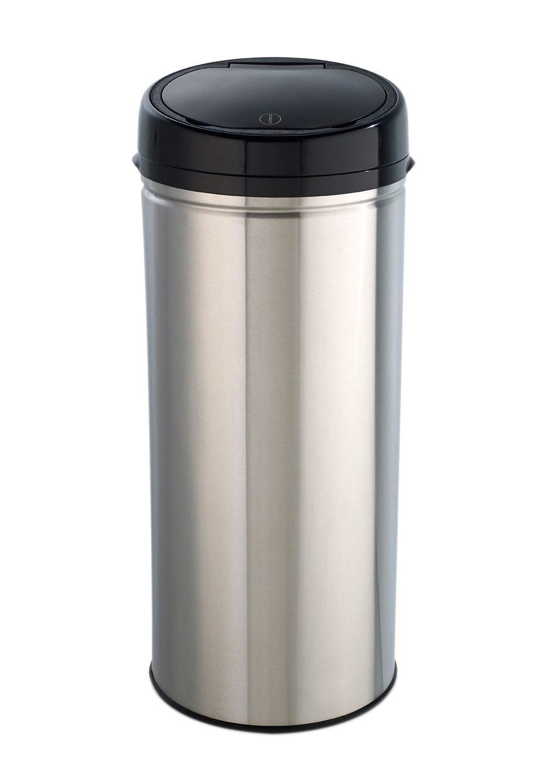 Edelstahl-Abfalleimer Easy Touch, 42 Liter, »INOX BRUSHED«, Echtwerk