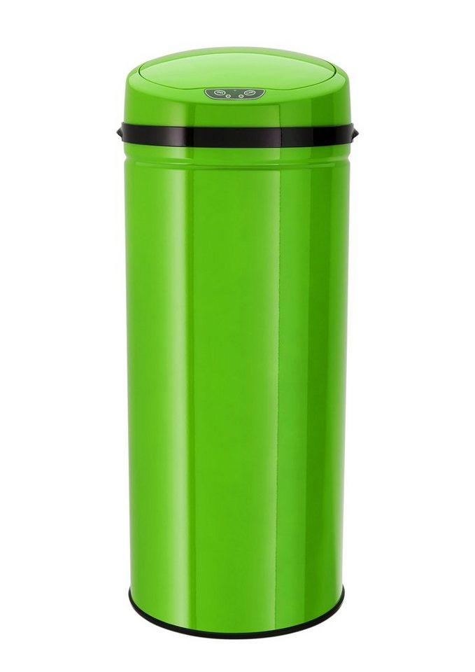 Edelstahl-Abfalleimer mit Infrarotsensor, 42 Liter, »INOX LEMON«, Echtwerk in Lemon