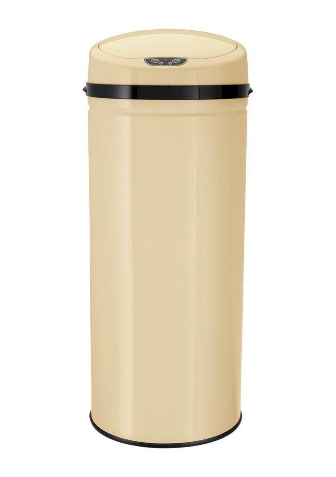 Edelstahl-Abfalleimer mit Infrarotsensor, 42 Liter, »INOX VANILLA«, Echtwerk in vanillefarben