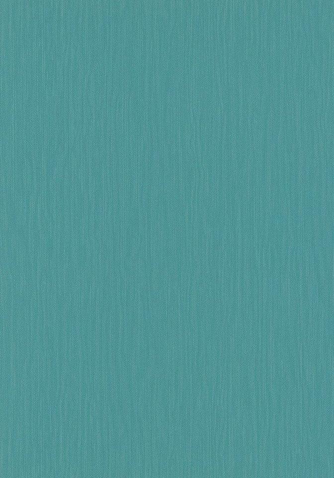 Vliestapete »Ambiance«, Uni petrol in blau