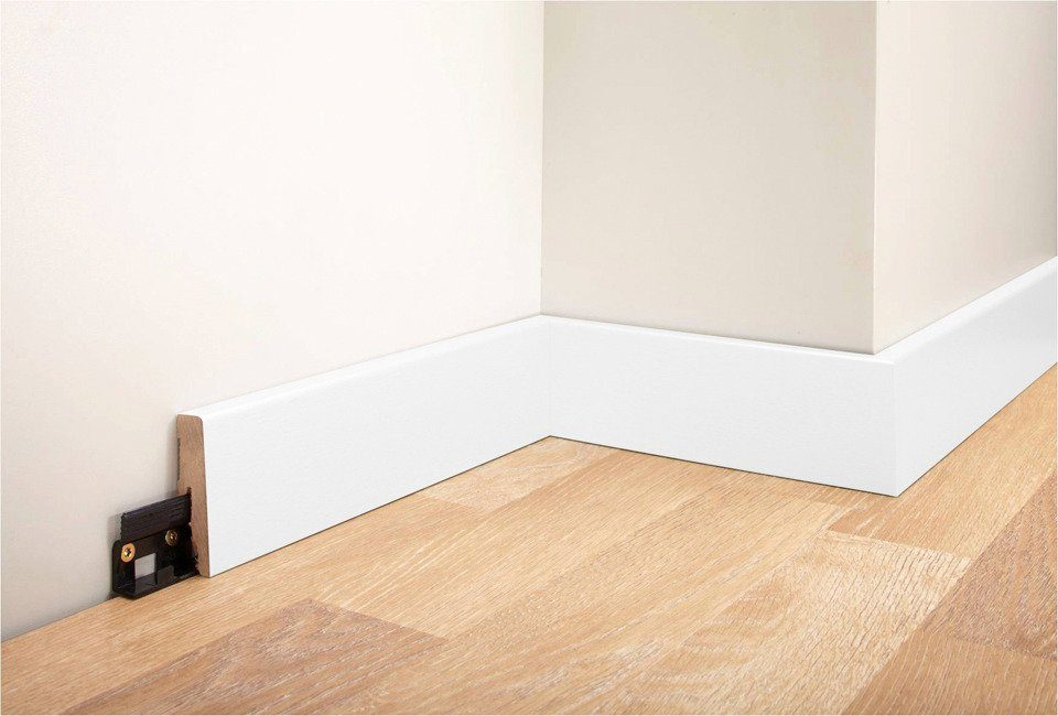 MODERNA Sockelleiste »Designfußleiste DFL 60 - weiß«, 1 Stk., Höhe: 6 cm
