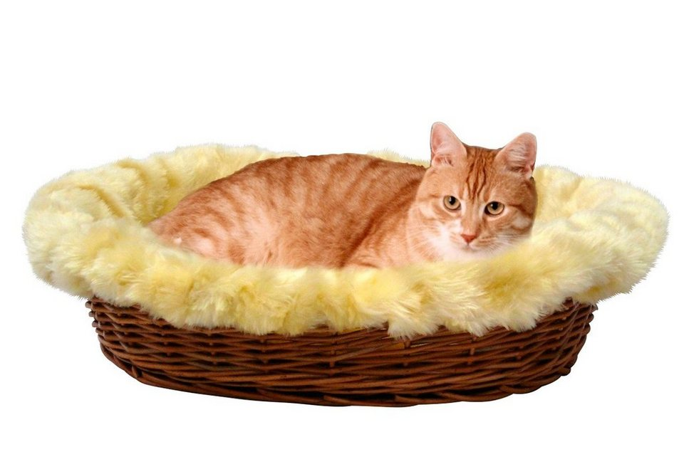 Katzenkorb »Rattan« in cremefarben/braun