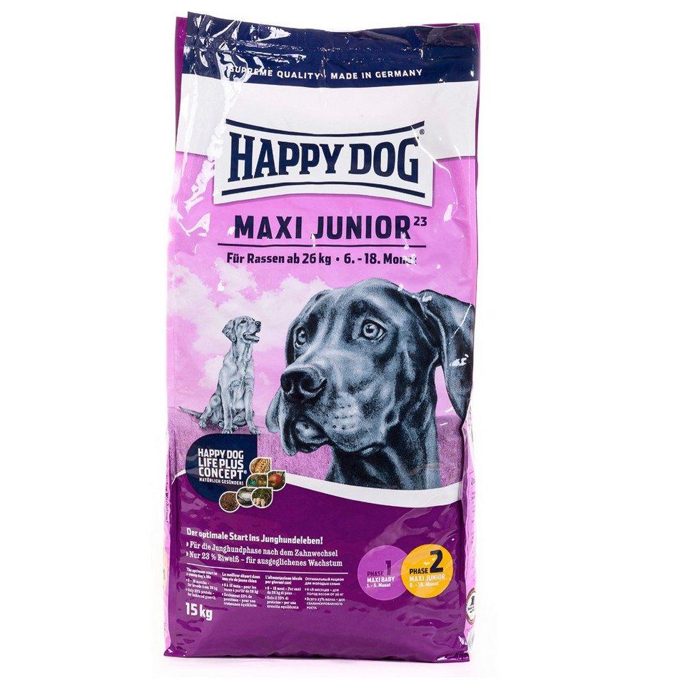 Hundetrockenfutter »Maxi Junior«, 15 kg in braun