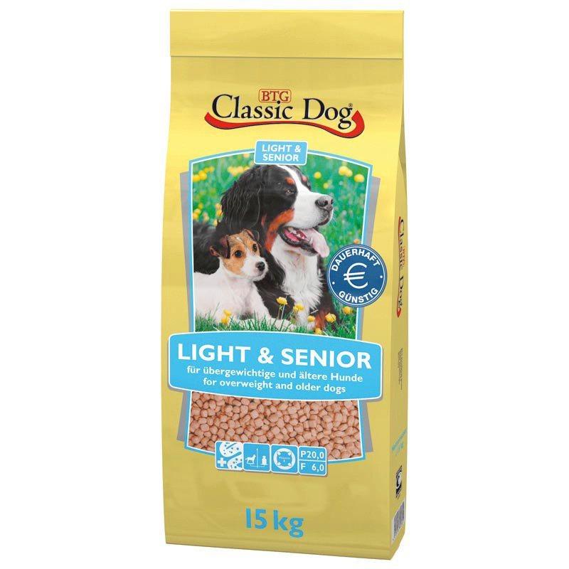 Hundetrockenfutter »Light & Senior«, 15 kg in braun