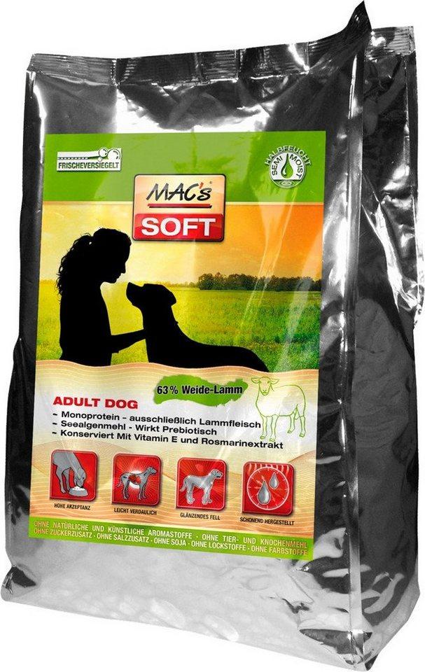 Hundetrockenfutter »Soft Adult Dog Weide-Lamm«, 15 kg in braun