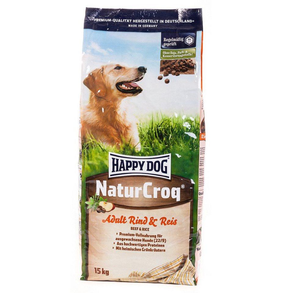 Hundetrockenfutter »NaturCroq Adult Rind & Reis«, 15 kg in braun