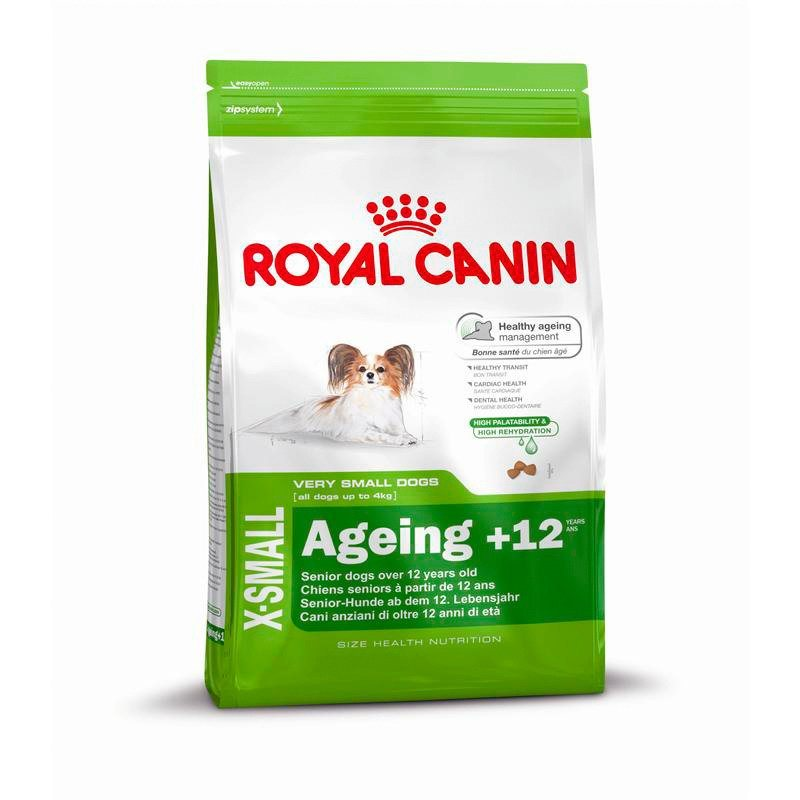 Hundetrockenfutter »X-Small Ageing 12+«, 1,5 kg in braun