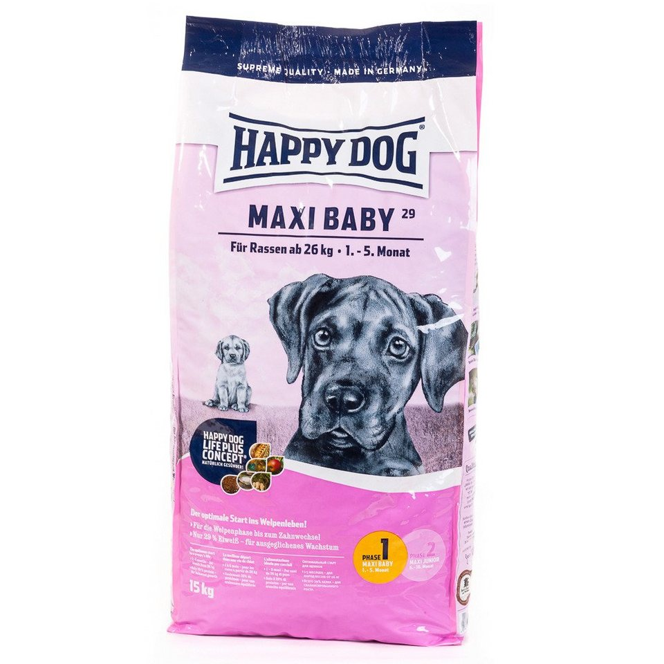 Hundetrockenfutter »Maxi Baby«, 15 kg in braun