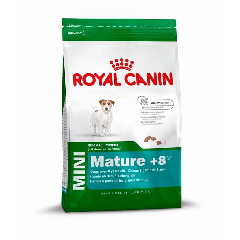 Hundetrockenfutter »Mini Adult 8+«, 2 kg oder 8 kg in braun