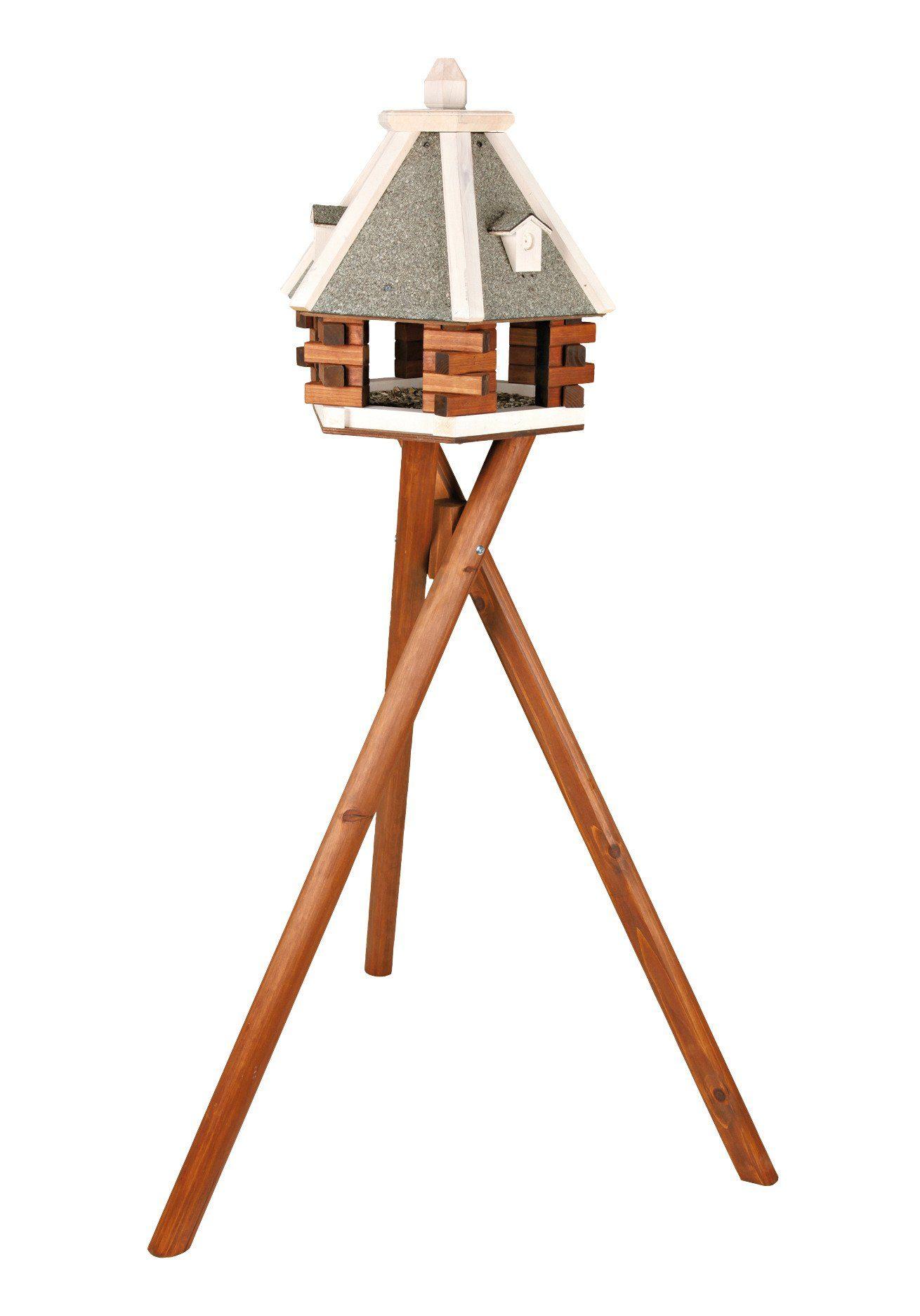 Trixie Vogelhaus »Pyramide«, grau/weiß mit Standbein