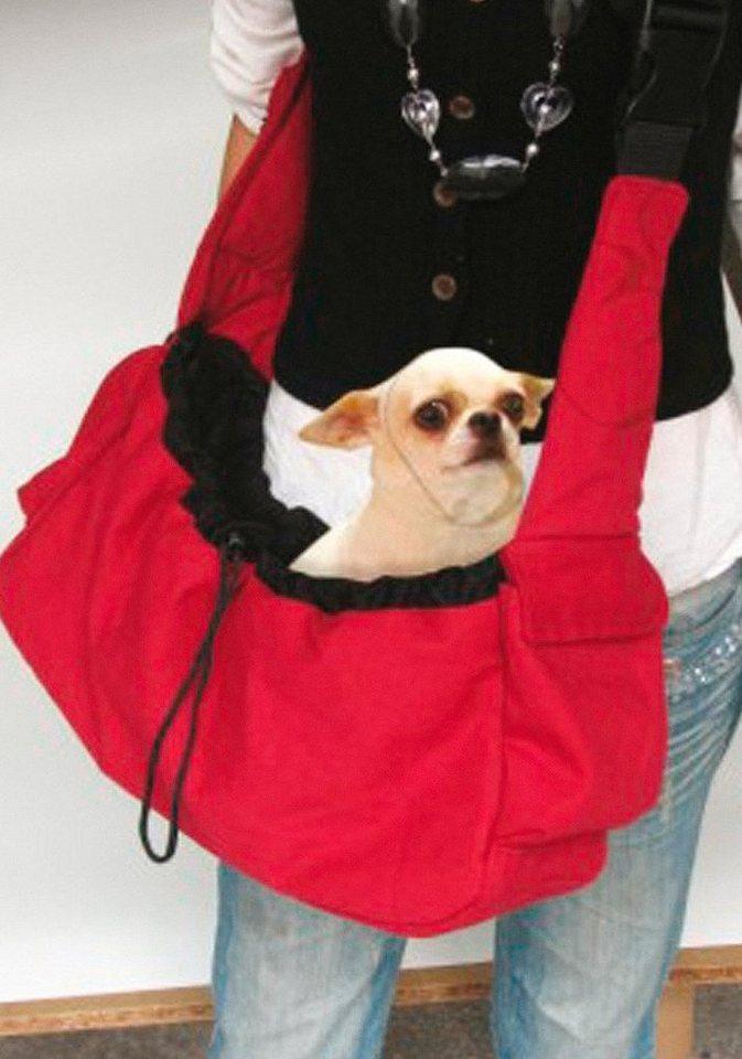 Hunde-Tragetasche »Modische Tragetasche« in rot, schwarz