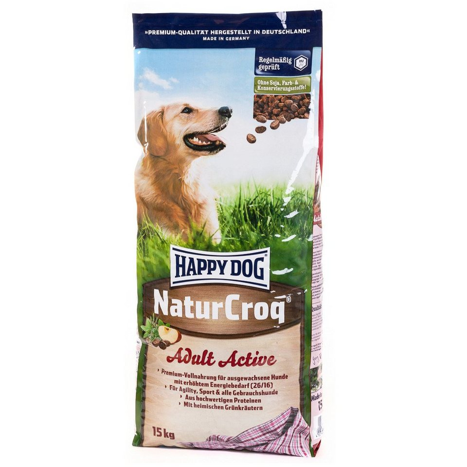 Hundetrockenfutter »NaturCroq Adult Active«, 15 kg in braun