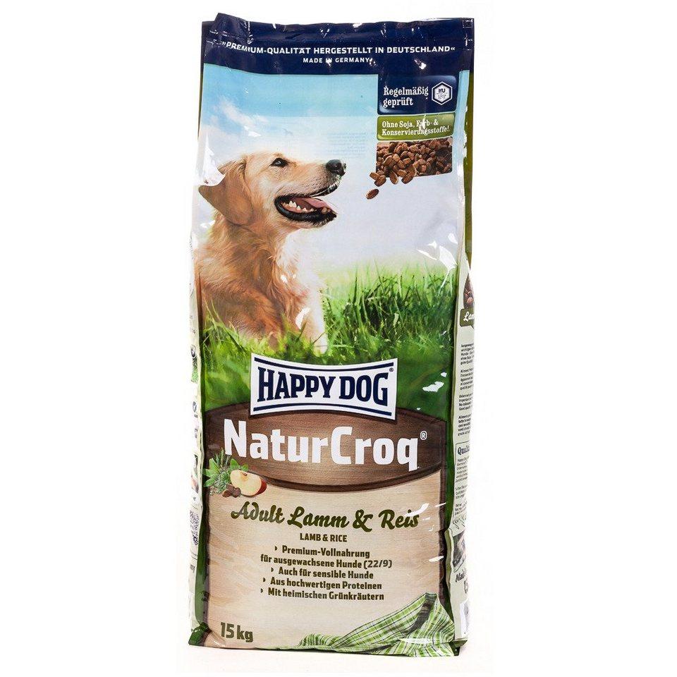 Hundetrockenfutter »NaturCroq Adult Lamm & Reis«, 15 kg in braun