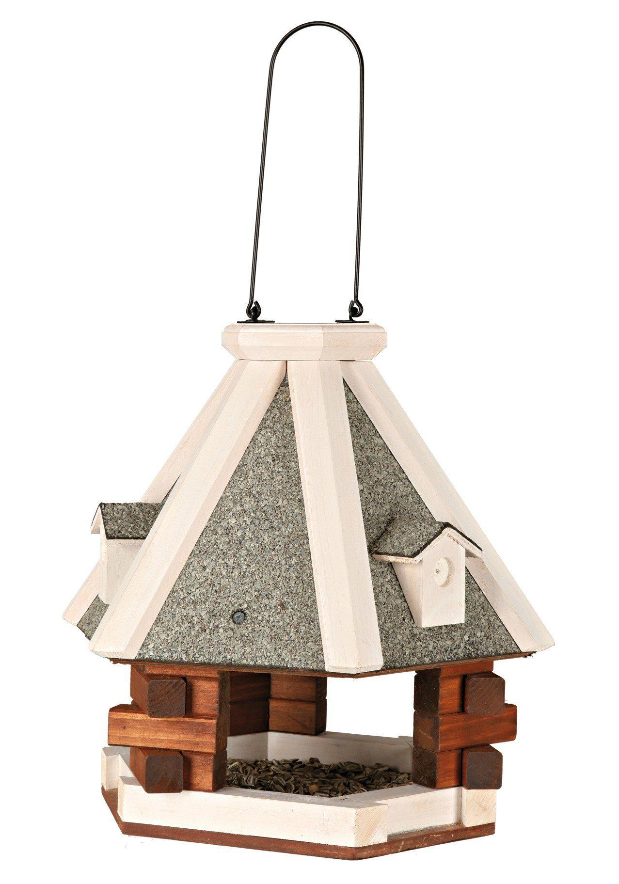 TRIXIE Vogelhaus »Pyramide«, grau/weiß, zum Hängen, B/T/H: 36/36/35 cm