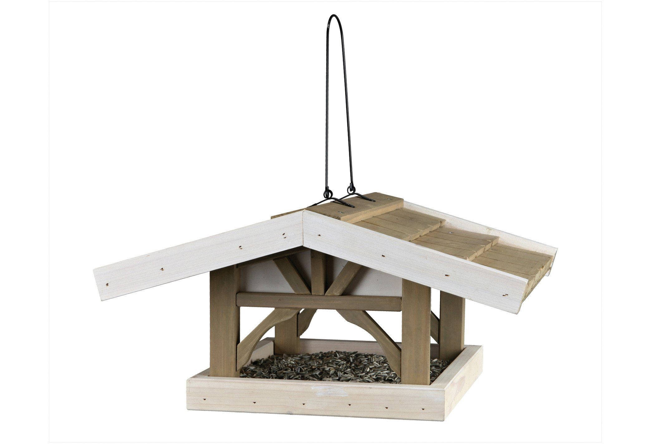 Vogelhaus »Giebel« grau-braun zum Hängen