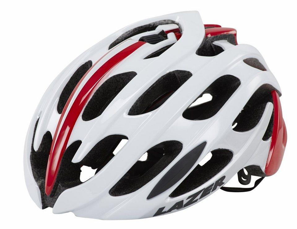 Lazer Fahrradhelm »Blade Helm weiß/rot« in weiß