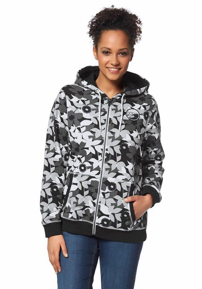 Ocean Sportswear Kapuzensweatjacke in Schwarz