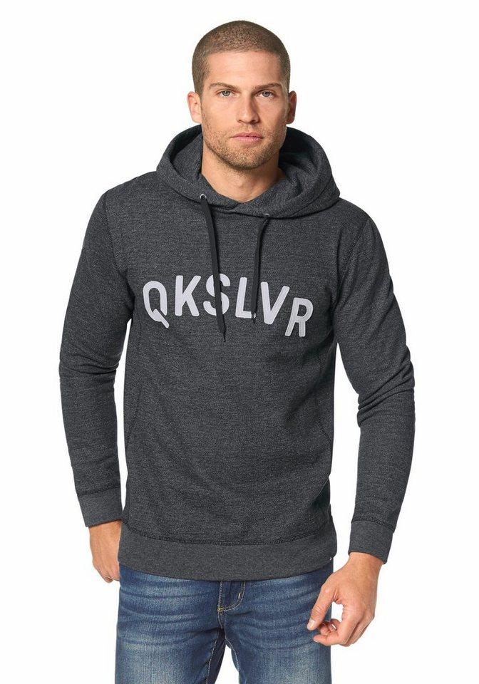 Quiksilver Kapuzensweatshirt in Anthrazit-Meliert